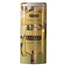 Чай Basilur Зеленый и Цитрусовый