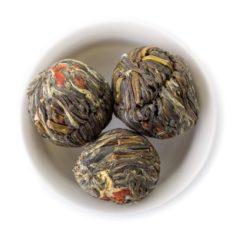 Китайский зелёный связанный чай Бай Хуа Сянь Цзы (Ангел цветов)